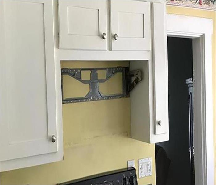 soot removed and cabinet restored