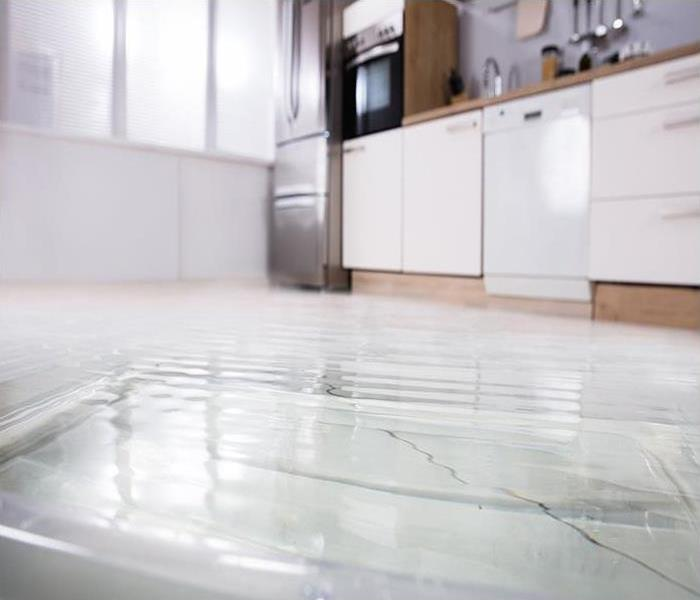 Flooded Floor In Kitchen From Water Leak